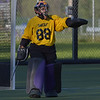 West Chester University goalie Marissa Elizaardo directs the defense Wednesday afternoon at Vonnie Gros field. The Golden Rams defeated Bloomsburg 4-0 to remain in first place in the PSAC.