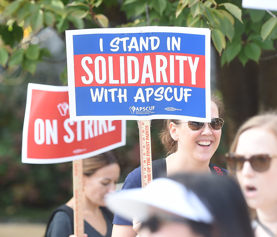 . WEST CHESTER >> For the first time ever, professors across Pennsylvania�s State System of Higher Education (PASSHE) went on strike Wednesday at 5 a.m., following 15 months of failed negotiations between their union and the state system.  PETE BANNAN-DIGITAL FIRST MEDIA