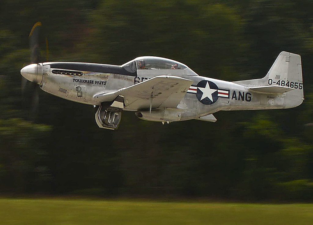 . PETE BANNAN  DIGITAL FIRST MEDIA    A World War II era North American P-51 Mustang takes off from Chester County  G.O. Carlson airport Monday as part of the Wings of Freedom Tour.  In additionto the Mustang a B-17 Flying Fortress �Nine O Nine� WWII Heavy Bomber and a Consolidated B-24 Liberator �Witchcraft� WWII Heavy Bomber were also on display and available for rides through Wednesday. P-51 flights are $2,200 for a half hour and $3,200 for a full hour. B-25 flights are $400 per person.