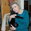 December 24, 2013:  My mom and her cat, Precious.