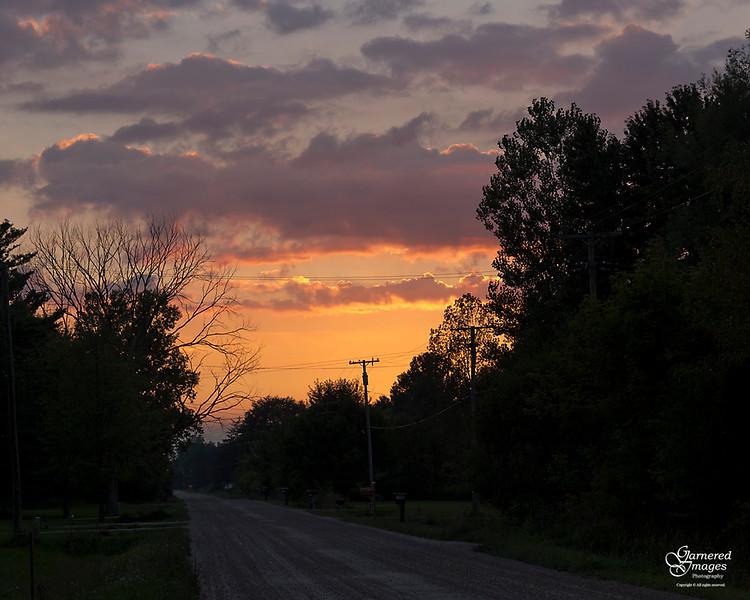 September 15, 2018:  A quiet little late summer sunset.