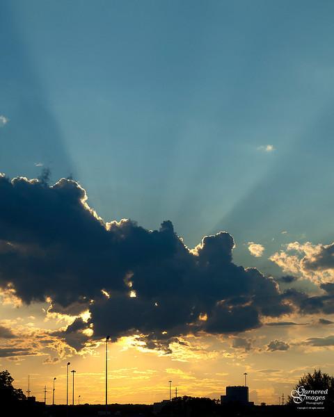 June 22, 2012:  Southfield sunset.