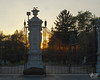 June 7, 2012:  Sunset at the cemetary gates.
