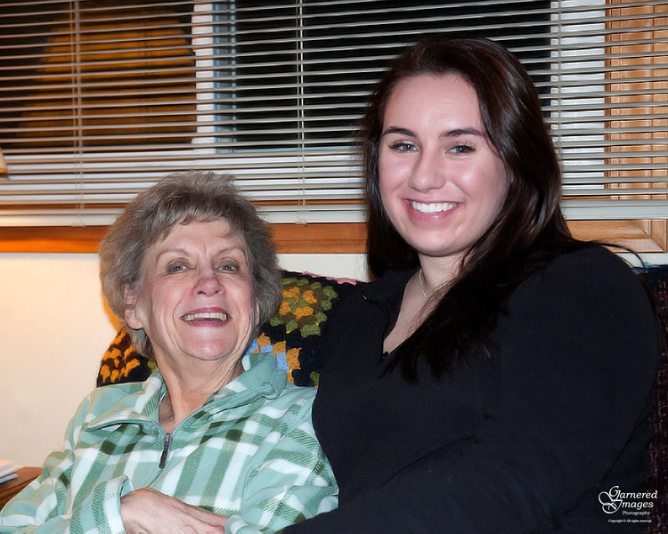 December 26, 2011:  My mom and my niece.