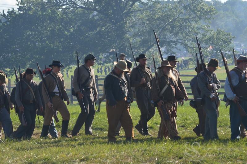 South Confederate Civil War Battalion Soldiers Photo