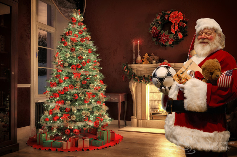 Santa Claus Christmas Toy Gifts Photograph