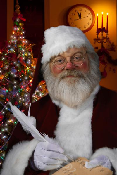 Santa Claus Feather Pen Picture