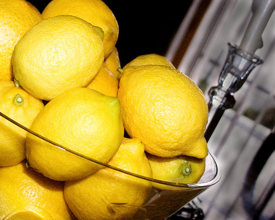 April 14 - A bowl of lemons from my tree makes a good centerpiece too.