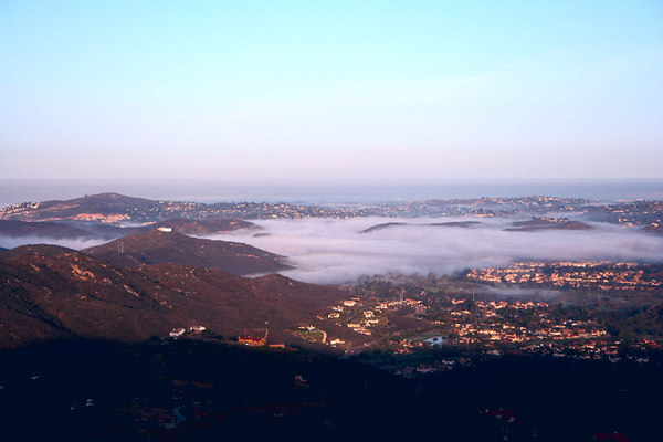 March 25, 6:15am - Sunrise and fog in the valley