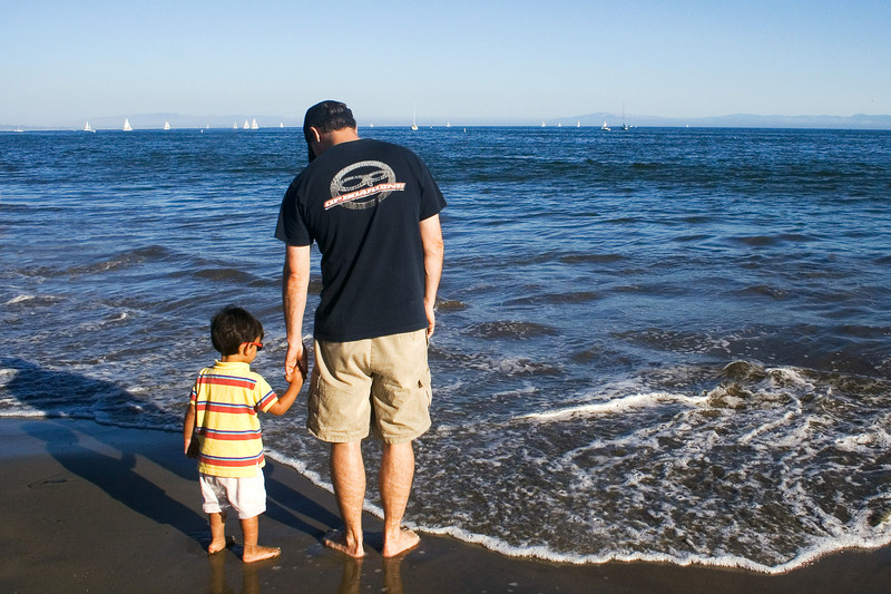 August 15 - Father and Son  at Santa Cruz Beach