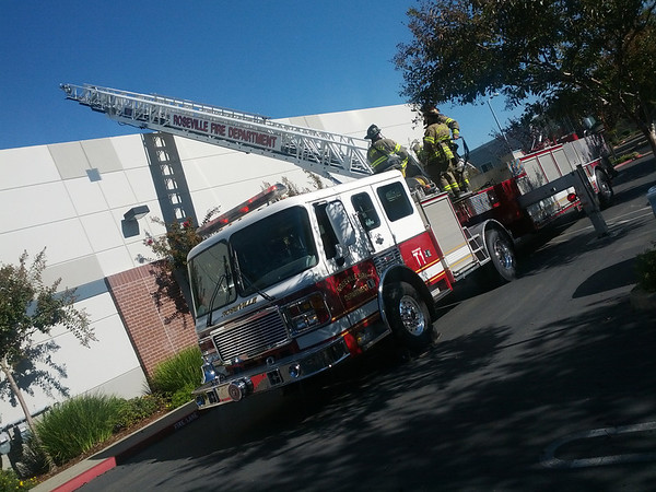 """2012.11.06 (Tuesday)  <br /> <br /> Had a good day, got in early.  Things were going good until we were all told to step outside for a """"fire drill"""" that turned out to be more than a drill.  There was a heavy burning smell in the building, the fire department showed up to check things out.  Seems that one of our HVAC units had a belt that was slipping.<br /> <br /> I didn't have the SLR with me, I grabbed this shot with my phone.  Not staying up to watch the election results, I'll have t wait till the morning to see who God selected for our next president! <br /> <br /> Take care,<br /> Darron"""