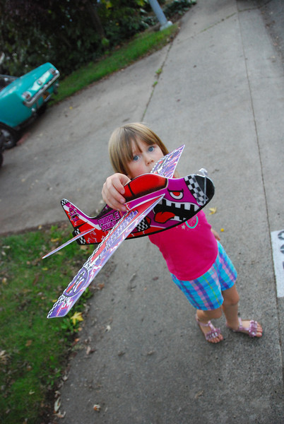 """2012.11.05 (Monday)  """"Here Poppy!""""<br /> <br /> I had a long day at work, couldn't wait for it to end.  Got home and replaced Robin's tail light for her.  The gKids arrived home about the time Robin got up.  I took Peyton and Korbin out to fly the airplane.  We went for a walk around the block so I could find a good daily shot but I ended up going with this one of Peyton.  <br /> <br /> The walk was fun, the kids got some wiggles out, I am so tired.  Going to sign off now and hang out with Robin and Kayla.<br /> <br /> Later,<br /> Darron"""