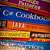 2013.02.05 (Tuesday)<br /> <br /> Had lunch with Bobby today at FreeBirds, work was work.  Got home on time, hung out with the family.  Grabbed this shot of some of my old tech books, processed and posted daily.  <br /> <br /> Later,<br /> D