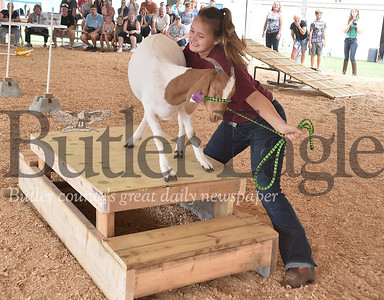 58149 New event at the Butler Farm Show GOAT obstacle course in the Dairy Pavilion