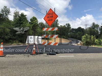Work on North Boundary Road in Cranberry Township is expected to be completed this week.
