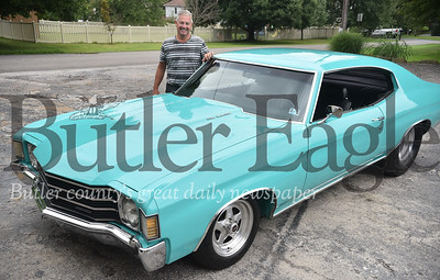76729 Duane Giillot with his car he has had for 40 years a 1967 Chevelle