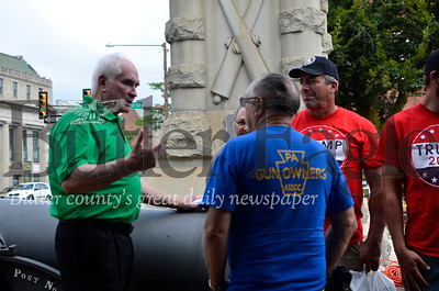 Kelly: U.S. Rep. Mike Kelly, R-3, speaks to locals after Saturday's Second Amendment rally in downtown Butler.