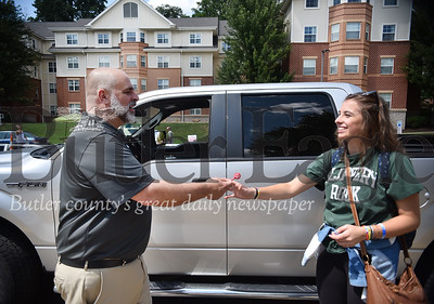 94789 Slippery Rock University first-year move in day kicking of the Week of Welcome