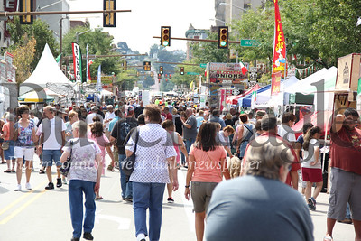 People gather on Main Street for the 2nd annual Butler Italian Festival on Main Street in Butler. 2018
