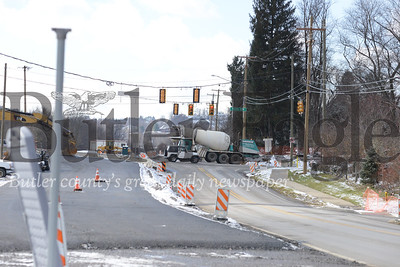 Photos by J.W. Johnson Jr.Work continues on Route 228 in Adams Township near Mars.