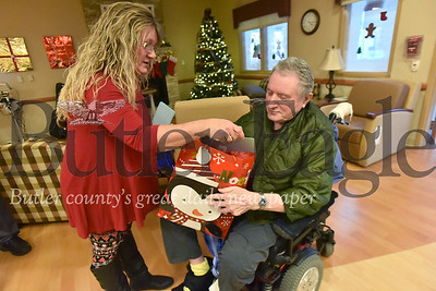 52328 Butler American legion Post 117 along with Sons of American Legion Squaran Post 117, American Legion Auxiliary  and American Legion Riders of Butler County give gifts to patients at Sergeant Joseph George Kusick VA Community Living Center in Butler Twp