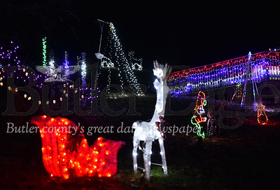Tyler Huth Christmas display at his home in Sarver