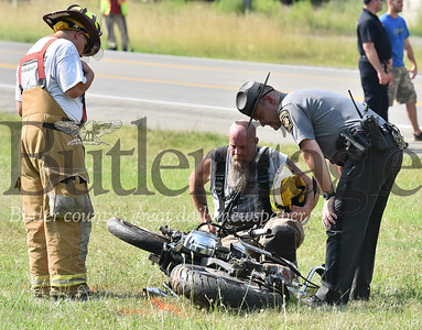 accident on route 422 truck vs motorcycle in Franklin Twp