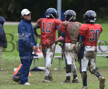 Summit Academy football head coach Steve Sherer coaches his last game against Mohowk