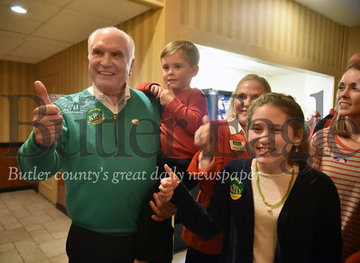 Mike Kelly won the 17th Congressional district over Ron DiNicola as he celebrates at the Days Inn in Butler Twp