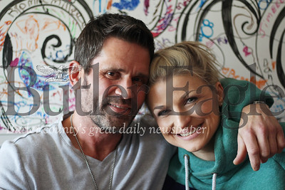 Jimmy Woods pictured here with his girlfriend, Dominika Jaworczykowska, has been working for the past four years to support and  employ those struggling with alcohol and drug addiction.photo by Caleb Harshberger