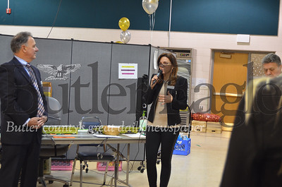 Executive director of The Lighthouse Foundation, Cindy Cipoletti, thanks volunteers, board members and donors Nov. 15 at a welcoming event for the foundation's new facility. Photos from Alexandria Mansfield