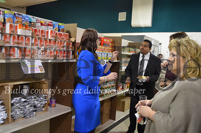Victoria Spreng, The Lighthouse Foundation program director, gives a tour of the new facility Nov. 15 at a ribbon cutting event. Photos from Alexandria Mansfield