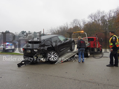 accident on Rt. 8 near the parking lot of Dave's Country Meats.Photos by Eric Jankiewicz