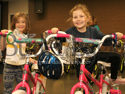 YMCA bike distribution event