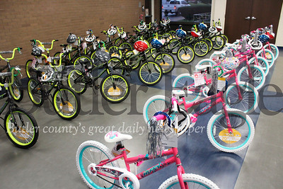 YMCA bike distribution event