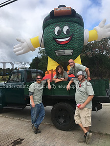 Allgreen Inc. staff at Allgreen Eggfest (Left to right) Rusty Becker, Andrea Evans, Hap Evans, Matt Johnson Submitted photo