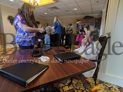 photos by Caleb HarshbergerBut now, St. Barnabas, in conjunction with a Mynd Virtual Reality, is bringing the technology to the aid of seniors housed in its facilities.