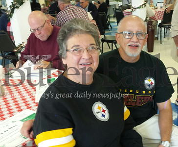 Pat and Jim Nocera, long-time members of St. Michael the Archangle Roman Catholic Church, enjoy the Italian Festival at St. Michael social hall on Sunday, Sep. 30 Donna Sybert/Butler eagle