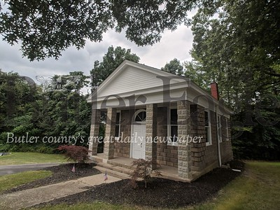 """This chapel at the Evans City Cemetery was featured in the scenes of George Romero's classic """"Night of the Living Dead.""""  Caleb Harshberger/Butler Eagle"""