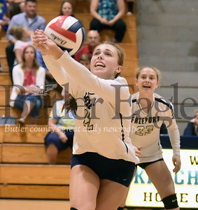 Knoch vs Freeport girls volleyball at Knoch high School