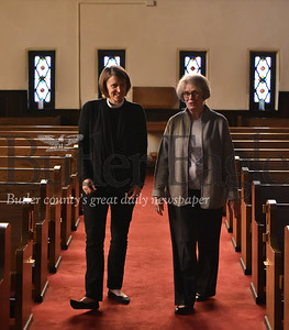 38495 Rev. Kimberly Van Driel and committee member Signe Mitchell for  First English Lutheran church 175th anniversary celebration Oct. 28