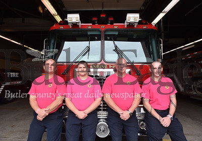60313 City of Butler wear pink shirts in the month of October for Breast cancer awareness  month
