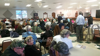 The event, held on Monday morning at American Legion post 778 in Lyndora, drew almost 100 veterans. Many shared their wartime stories and photos.