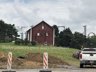 Work continues to widen Rochester Road near the Meeder property.