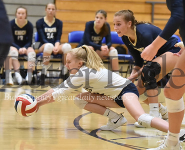 Knoch #2 Kenzie Kerkan hits the ball against Armstrong in a  WPIAL 3A girls volleyball game at Knoch high school on Monday  September 17 , 2018..(Justin Guido photo)