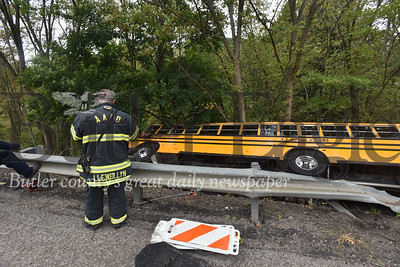 Mars School bus crashed along route 228 in Adams Twp