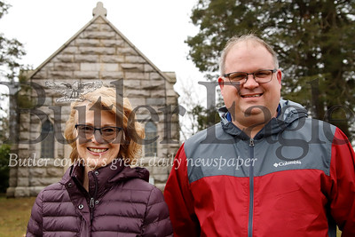 Chuck Veazey and Donna Croft at North Side Cemetery. Seb Foltz/Butler Eagle