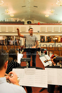 Conductor Dan Byerly of the SMPC Fest Orchestra practice ahead of their Christmas Cantana at Saxonburg Memorial Presbyterian Church on Wednesday December 11, 2019 (Jason Swanson photo)