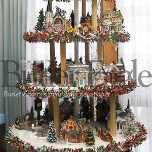 Eighty-year-old Ernie Taylor's seven-tier Christmas model display. Seb Foltz/Butler Eagle