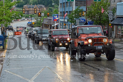 Photo from the last Jeep Parade held in downtown Butler during the 2015 Bantam Jeep Heritage Festival.